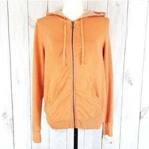 3/$20 🧡 Splendid Orange Zip Up Hooded Sweater